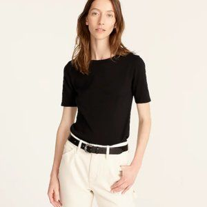 J. Crew Perfect Fit Tee in Black - Size Small